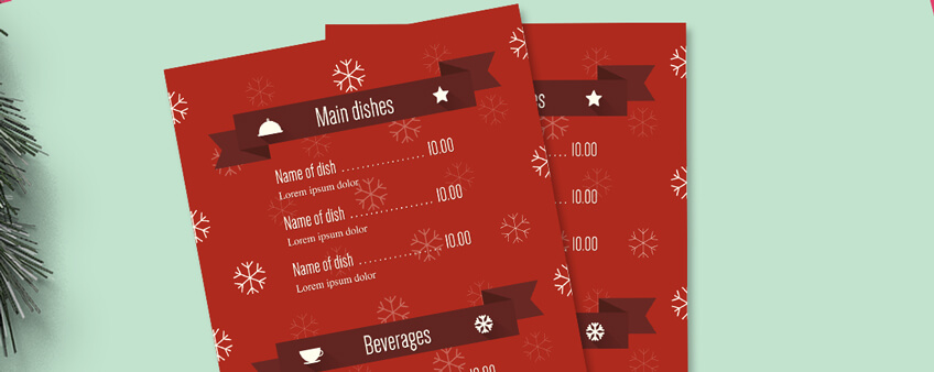 Free Templates: Christmas Menu Design Tips