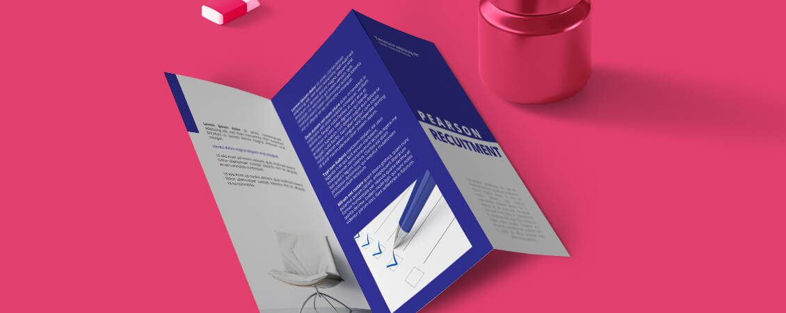 How to Set up Folded Leaflets for Print