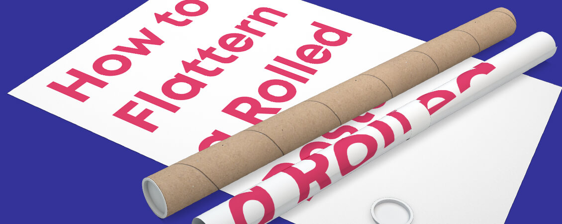 How to Flatten a Rolled Poster