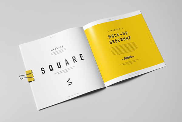 yellow square brochure design