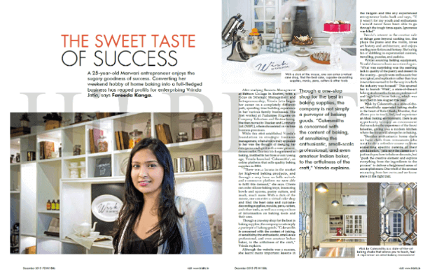 baking magazine article layout