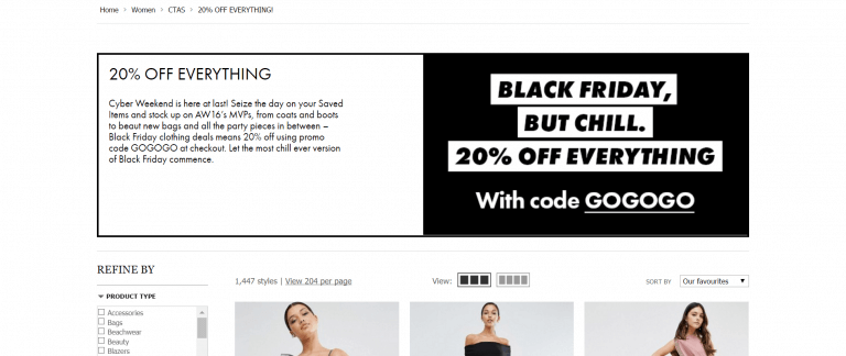 asos black friday offer