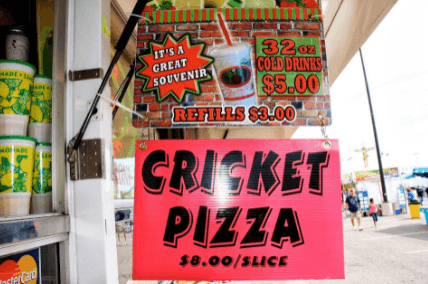 event food vendor sign on correx board