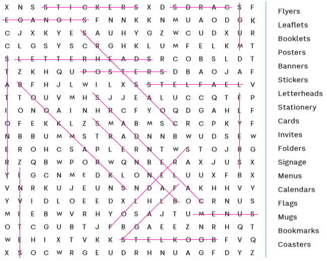 brain training answers instantprint word search