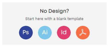 instantprint's free blank template download buttons