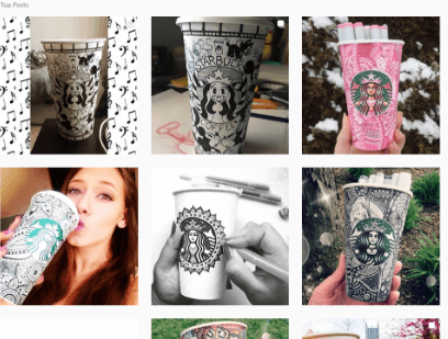 starbucks white cup contest marketing ideas