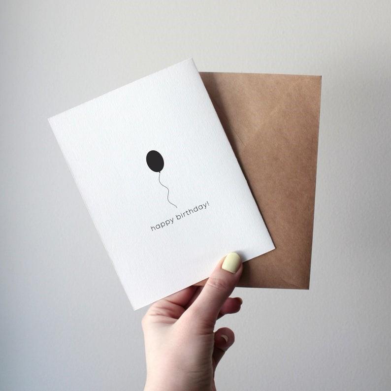 Dark Winter A6 greeting card