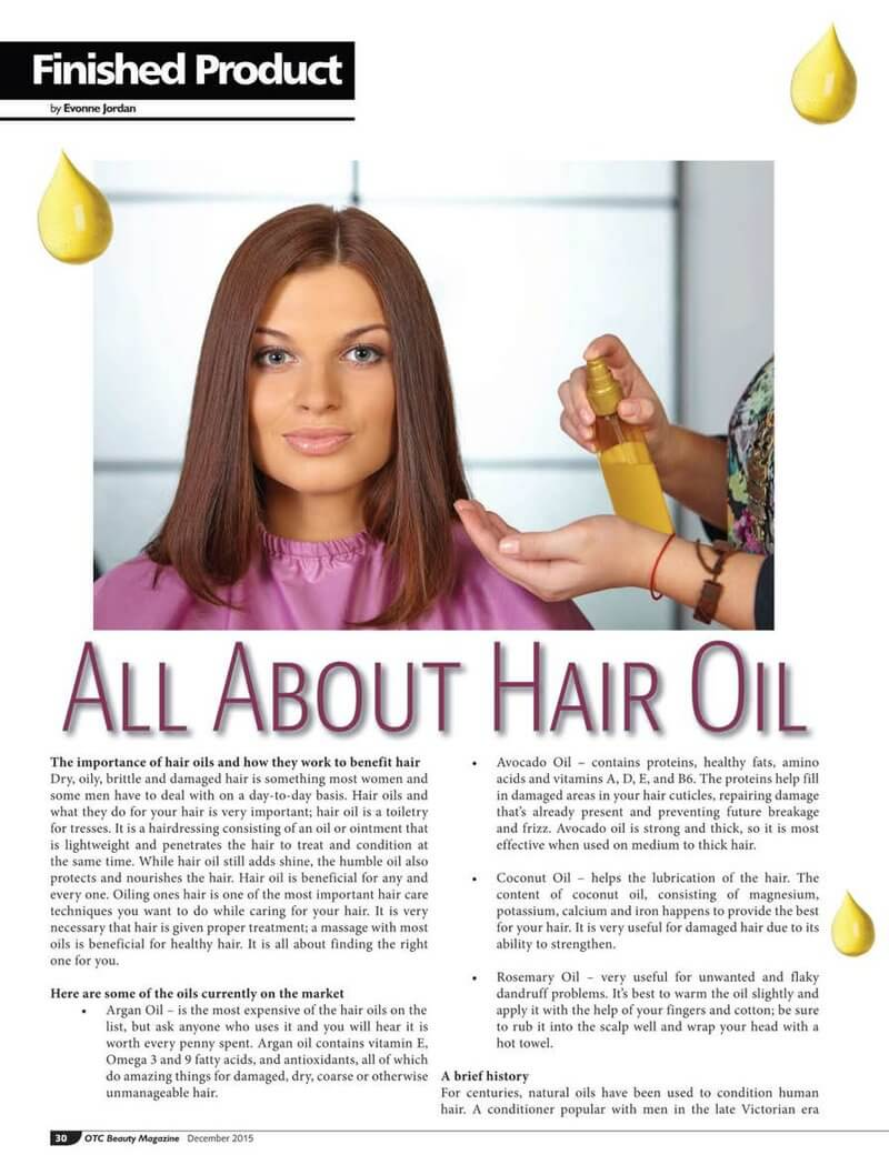 hair magazine advert article layout