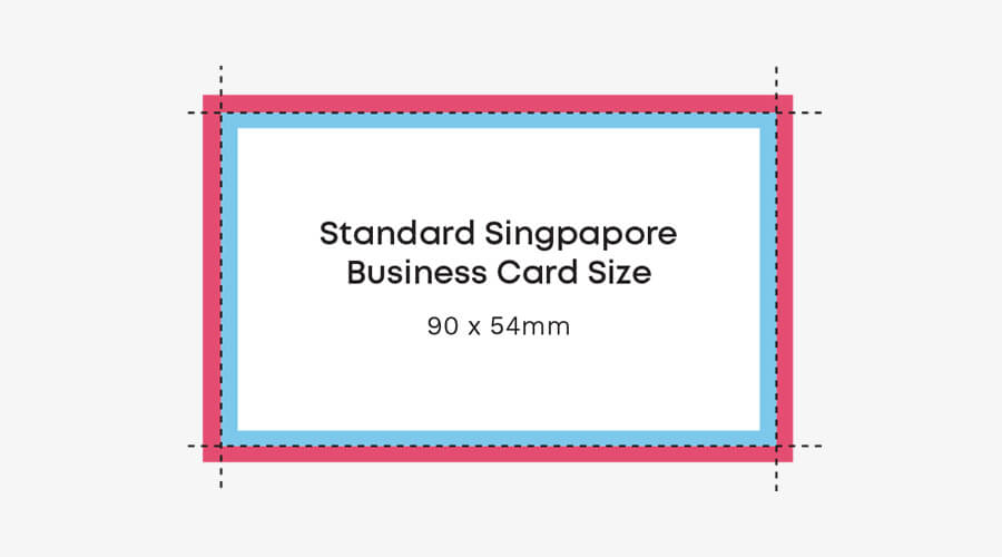 singapore business card size