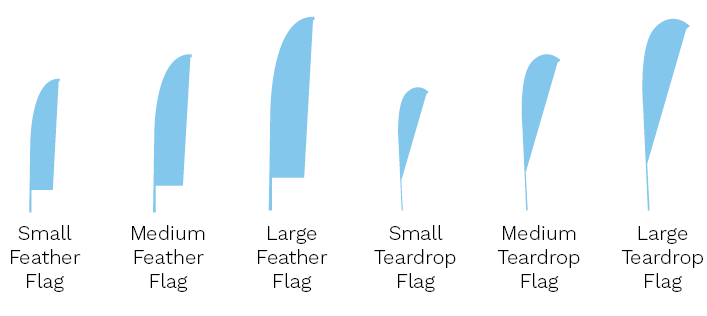 flag sizes and shapes