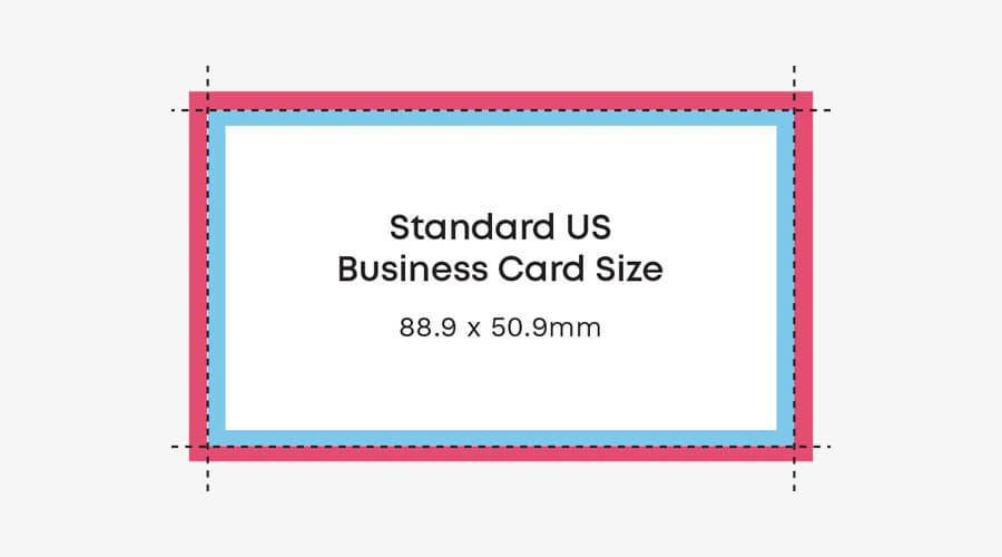 US business card size