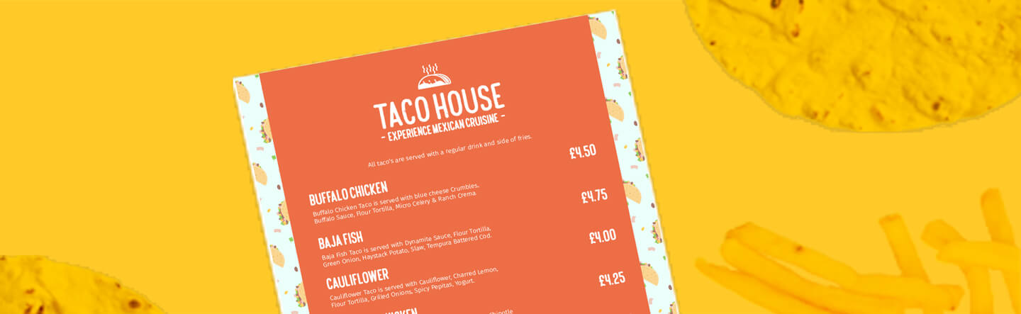 How to Design a Takeaway Menu Customers Can't Resist