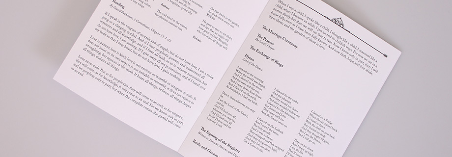 How to Customise an Order of Service For Your Wedding