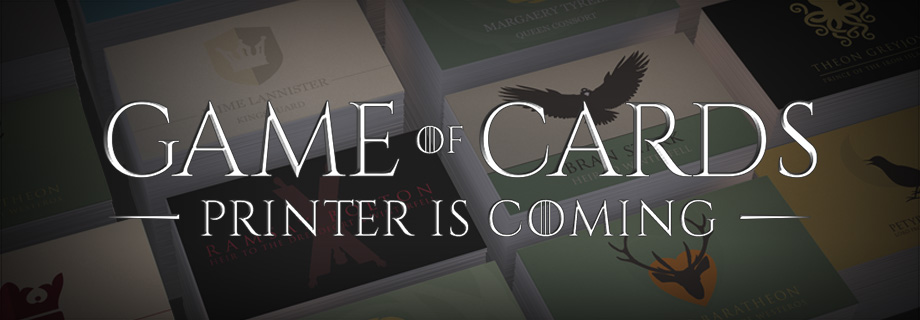 The Making of our Game of Thrones Business Cards Mosaic
