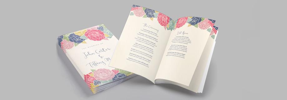 12 Stunning Wedding Orders of Service