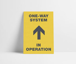 One-way system signage