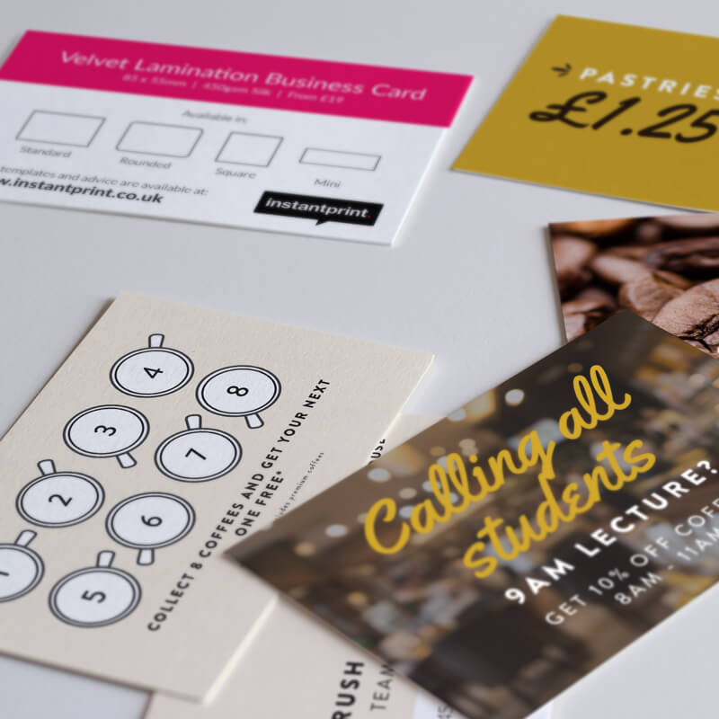 Free Business Cards, Flyers & Leaflets in our Sample Pack