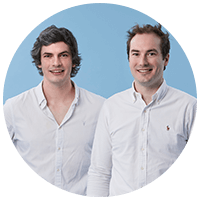Two business professionals in white shirts