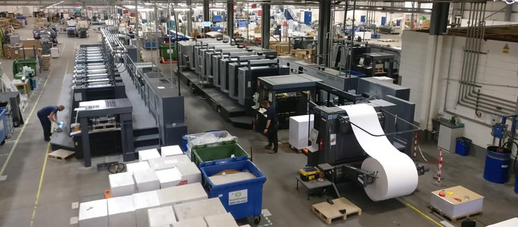 Meet the machines that produce your print an overview of our factory