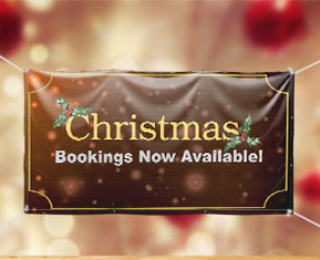 Christmas Bookings Open Now Notice