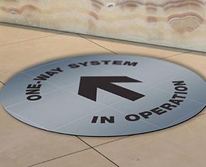 One way System Floor sticker