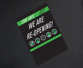 We Are Re-opening Flyers