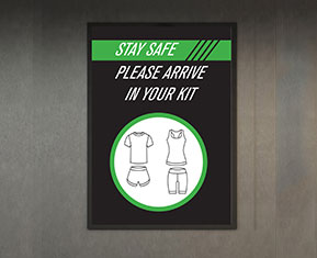 Please Arrive in Your Kit Poster