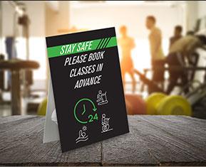 Please Book Classes in Advance Strut Card