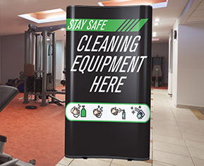 Cleaning Equipment Pop-Up Stand