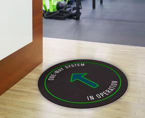 One-Way System Floor Sticker