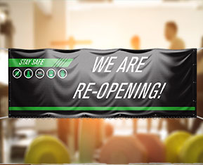 We Are Re-Opening PVC Banner