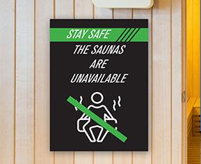 Sauna is Closed Correx® by Corplex Sign