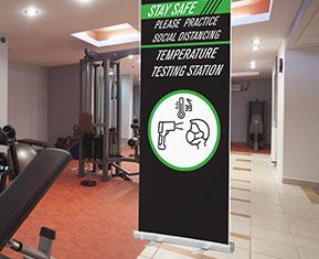 Temperature Test Station Roller Banner
