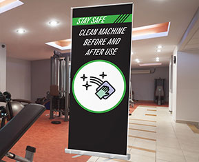 Clean Machine Before and After Use Roller Banner