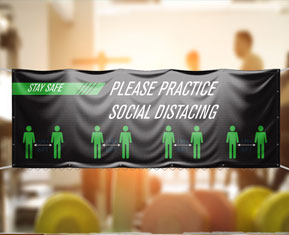 Social Distancing PVC Banner