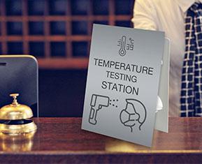 Temperature testing tent card
