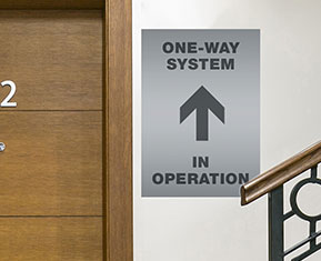 One way System in operation poster