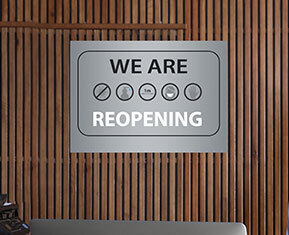 We Are Re-Opening Poster