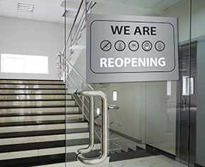 We Are Re-Opening Cling