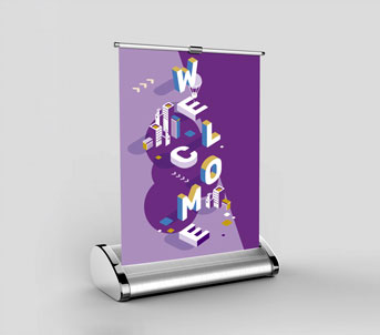 Route 1 Print | Desktop Roller Banners