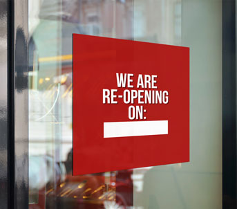 Route 1 Print | Window Clings | Re-Opening