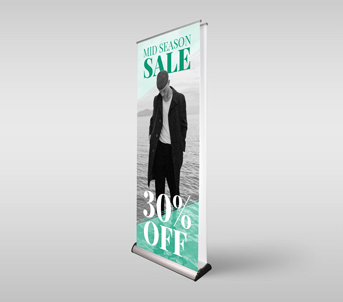 Route 1 Print | Double-Sided Roller Banners
